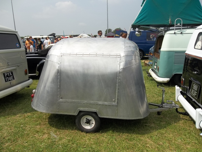 This took 1 year to make a mini airstream design. Cool as!