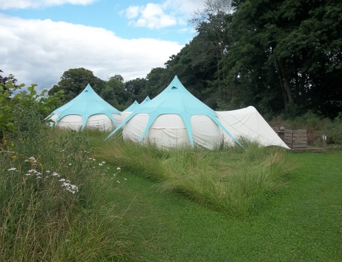 A 3-night camp at The Hideaway Baxby Manor in North Yorkshire