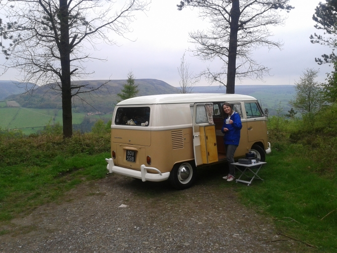 Campervan in Forest Cuppa