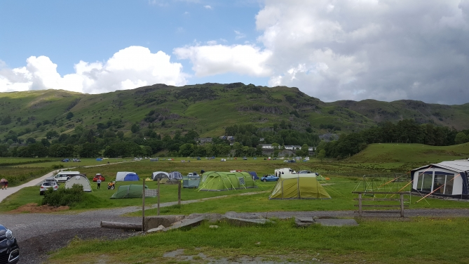 View of baysbrown farm (chapel stile) campsite