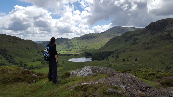 Looking at a lake in Langdale