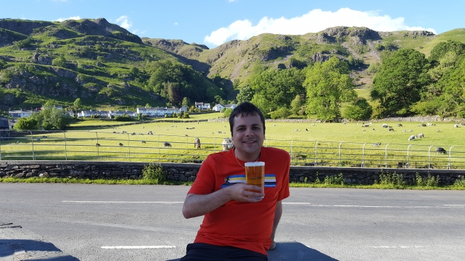 Pint at Wainwrights in Chapel Stile