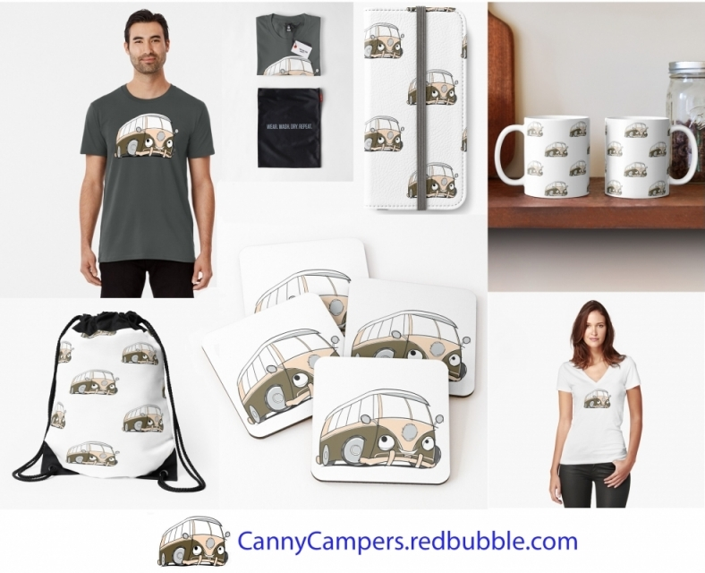 Campervan Merchandise perfect for campers, motorhomers, caravaners and maybe wild campers