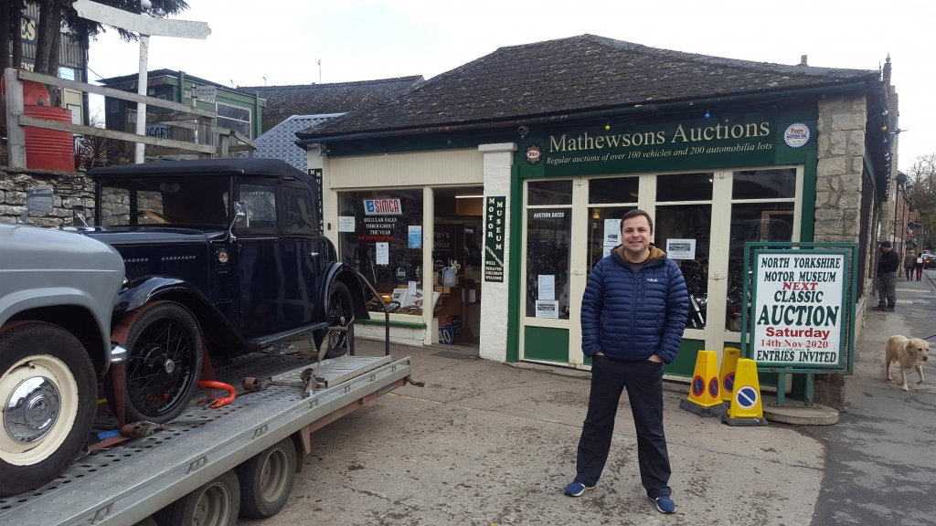 Paul from Canny Campers standing outside of Matthewsons Auctions