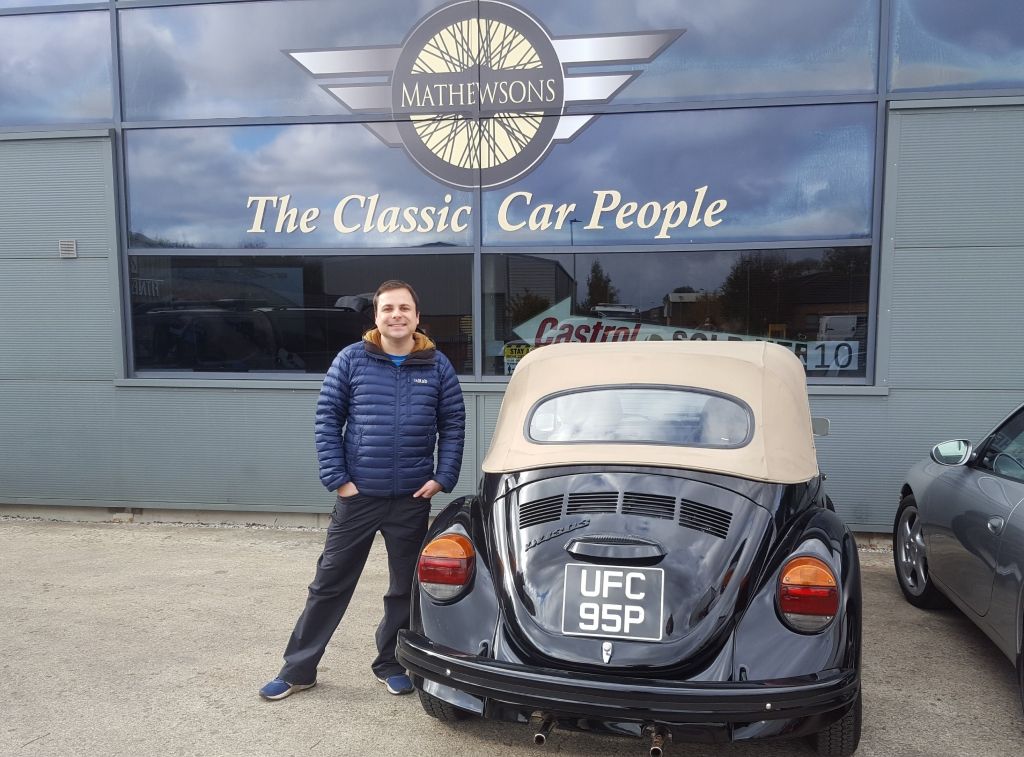 Millie the beetle arrives at Matthewsons Auctions, the final farewell
